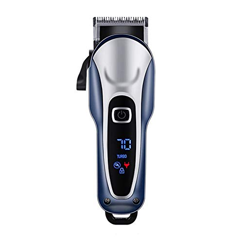 Professional Hair Clippers Voor Mannen Kids, Professional Hair Trimmer Set Draadloze Oplaadbare Led Display Elektrische Tondeuse Met 4 Opzetkammen